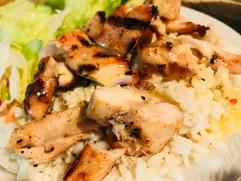 Lemon Grilled Chicken Rice.