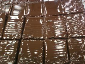 Brownies with Chocolate Ganache.
