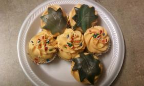 Vanilla Designed Cupcakes.