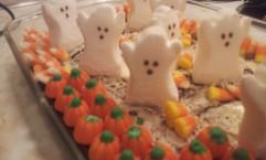 Halloween Candy Brownie.