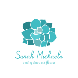 flowers wedding logo