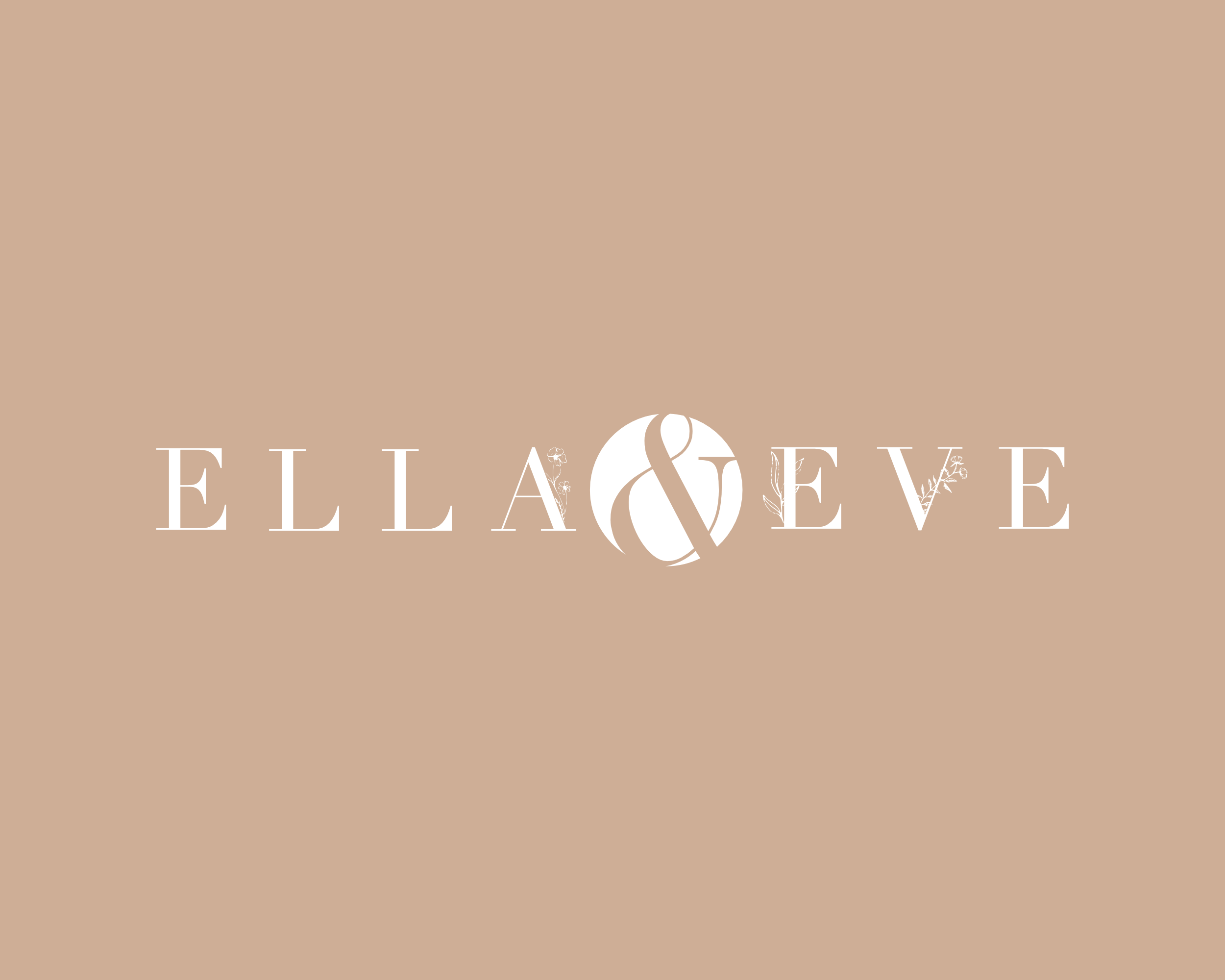 ELLA&EVE LOGO in beige brown