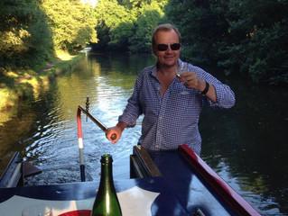 Chef on a narrow boat