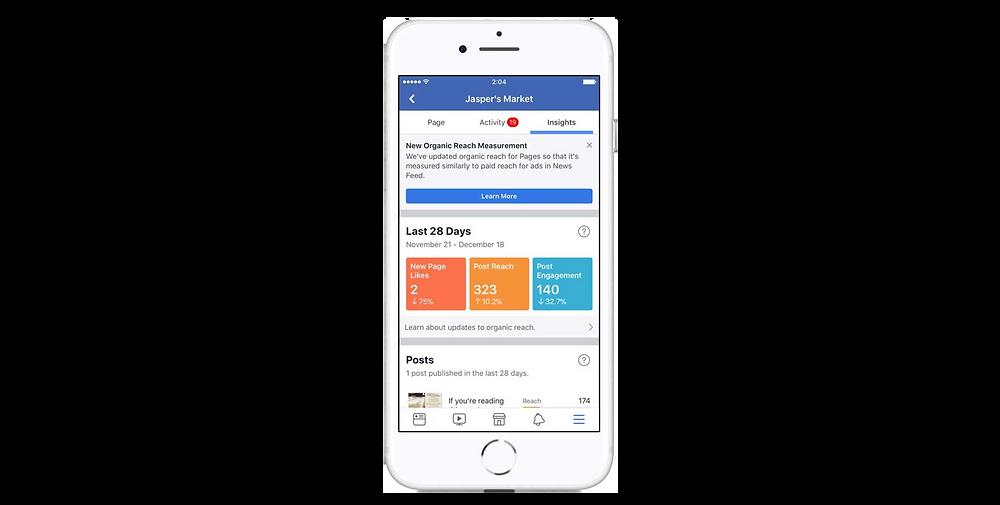 facebook organic measures
