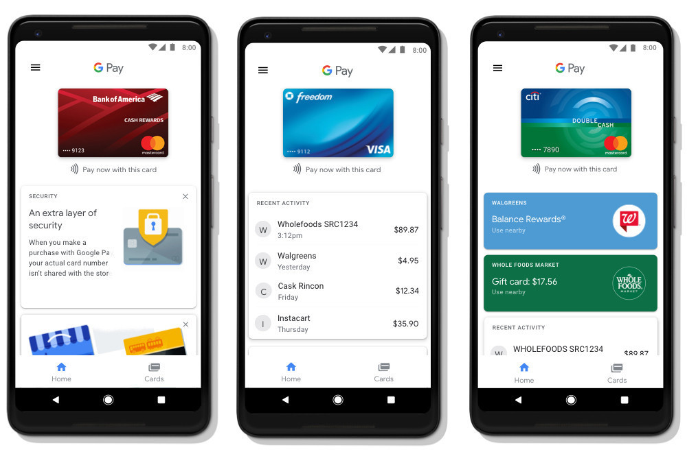 Google Pay transaction