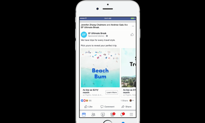 Facebook takes a bite out of the travel advertising pie