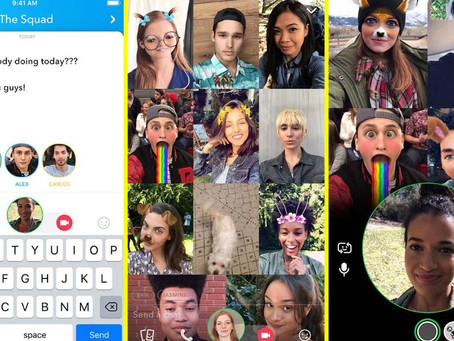 Snapchat增群組聊天功能 16人齊齊視訊