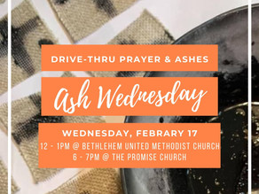 See you on Ash Wednesday at Noon or 6 PM
