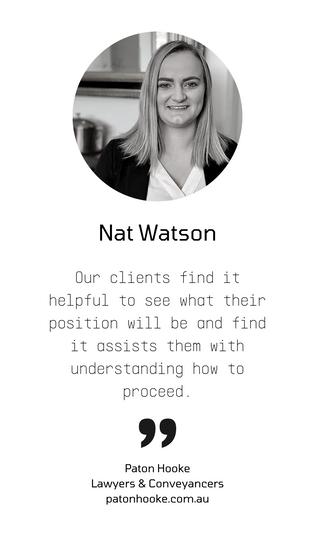 Testimonials feedback Nat Watson Paton H