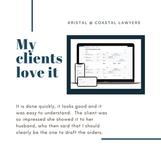 Coastal Lawyers client feedback - easy u