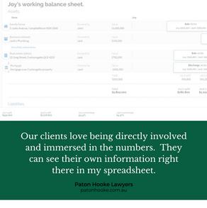 Paton Hooke - client feedback spreadshee