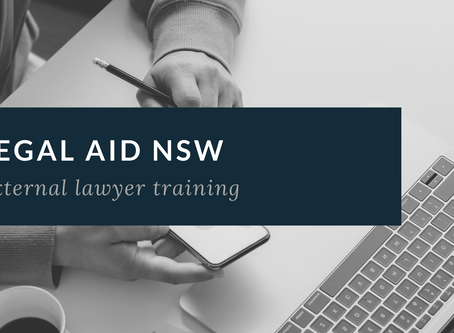 Legal Aid NSW - External lawyer training