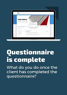 Your portal questionnaire launch balance