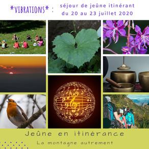 Vibrations - séjours du 21 au 23 juillet 2020