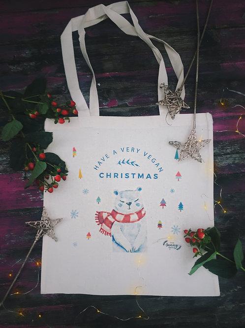 Christmas cotton tote bag
