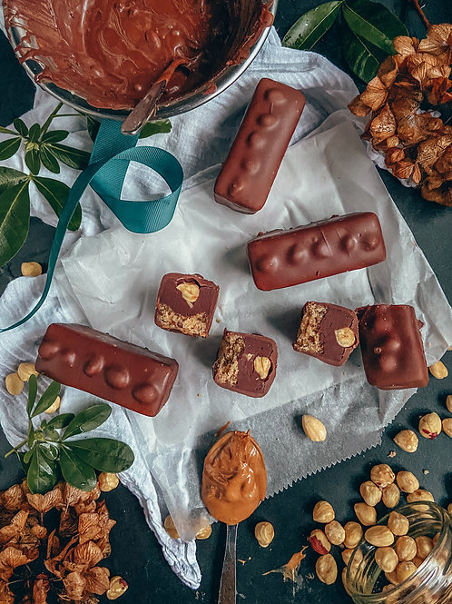 Hazelnut praline mylk chocolate bars