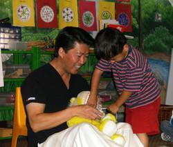 Dentistry for children San Jose flossing