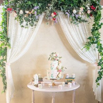 A Shabby Chic Christening setup for Miss