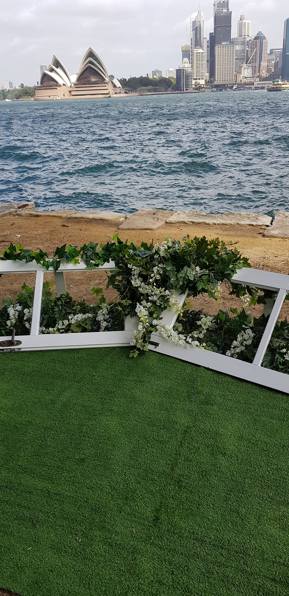 wedding ceremony, sitting pretty event hire, sydney skyline, sydney, weekend, vintage event hire