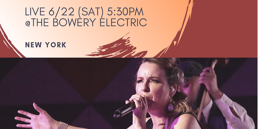 Donna Burke & J-MUSIC: Tokyo Meets New York at Bowery Electric
