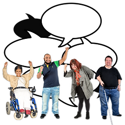 People with learning disabilities speaking up.