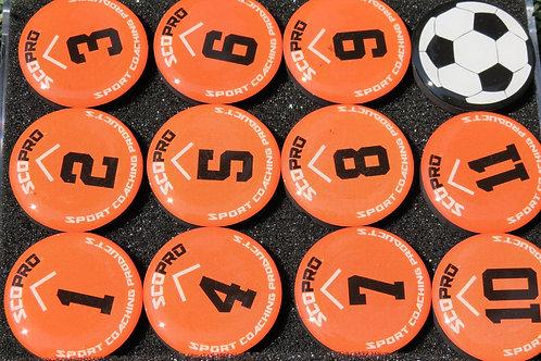 SCOPRO Tactical Magnets - (Orange/Black)