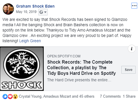 Shock Records is now signed to Glamzoo Tidy
