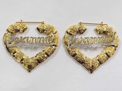 14K Gold Plated Heart Earrings