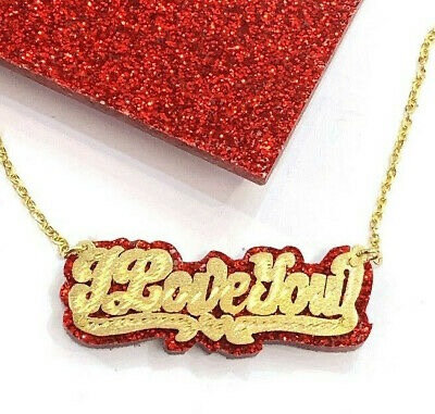 Red I Love You Chain