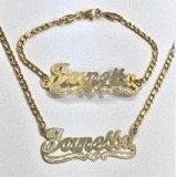 14K Gold Plated Chain & Bracelet