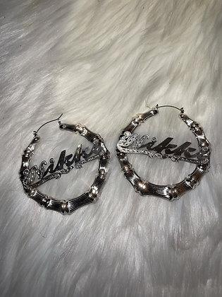 """3"""" Inch Silver Earrings"""