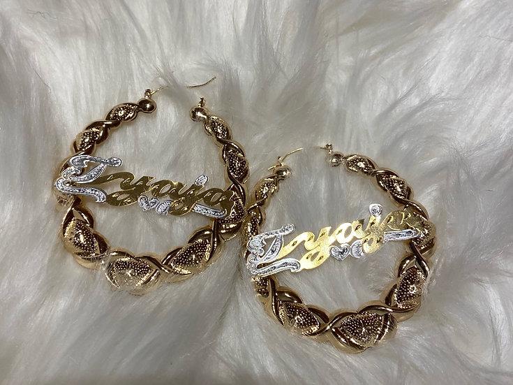 14K Gold Plated XoXo Earrings