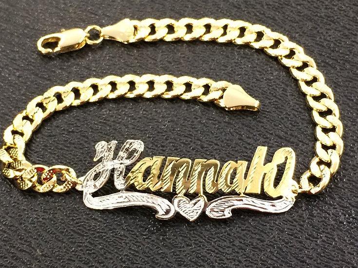 14K Gold Plated Cuban Bracelet (Adult)