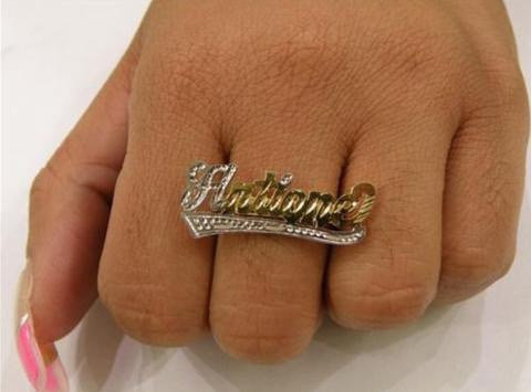 14K Gold Plated One Finger Ring