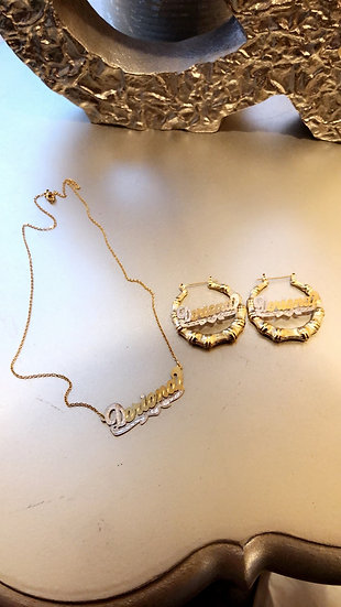 14K Gold Plated Kids Chain & Earrings