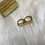 Thumbnail: Gold Plated 2 Finger Ring
