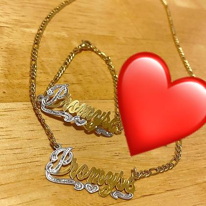 14K Gold Plated Chain & Bracelet (Kids)