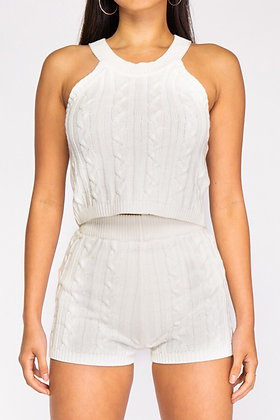 Twisted Knot Short Set(Off White)