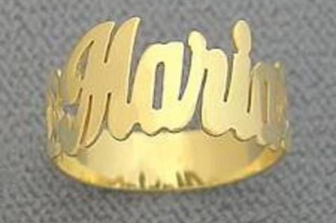 14K Gold Plated Name Ring