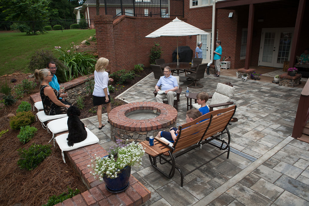 bluestone paver patio