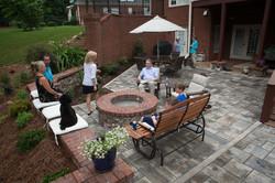 bluestone paver patio