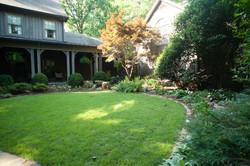 English garden lawn & plantings