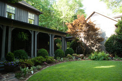 English garden & front porch