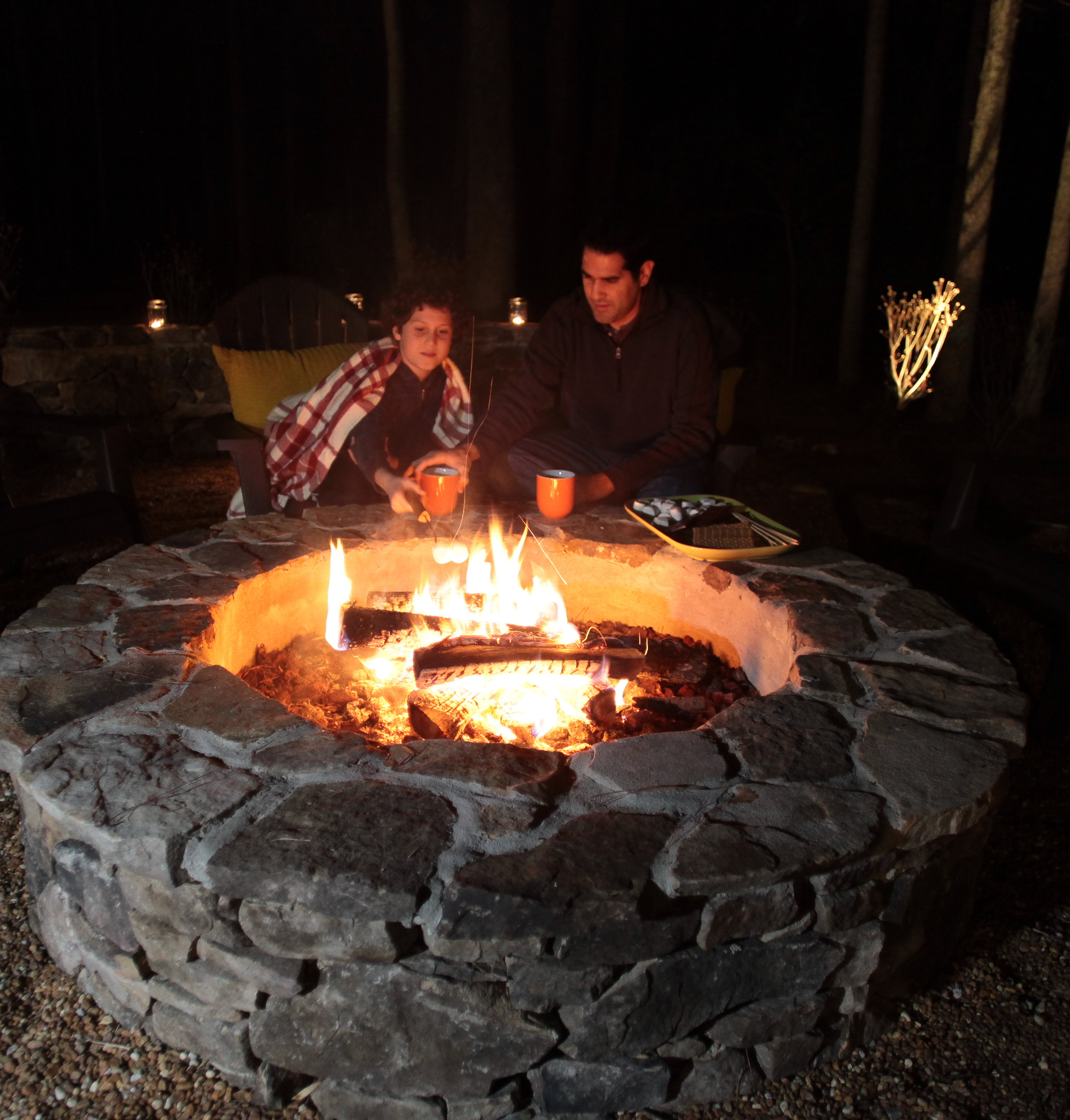 Tennessee fieldstone fire pit