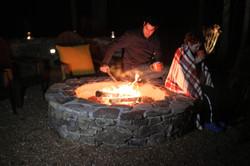 Tennessee fieldstone fire pit