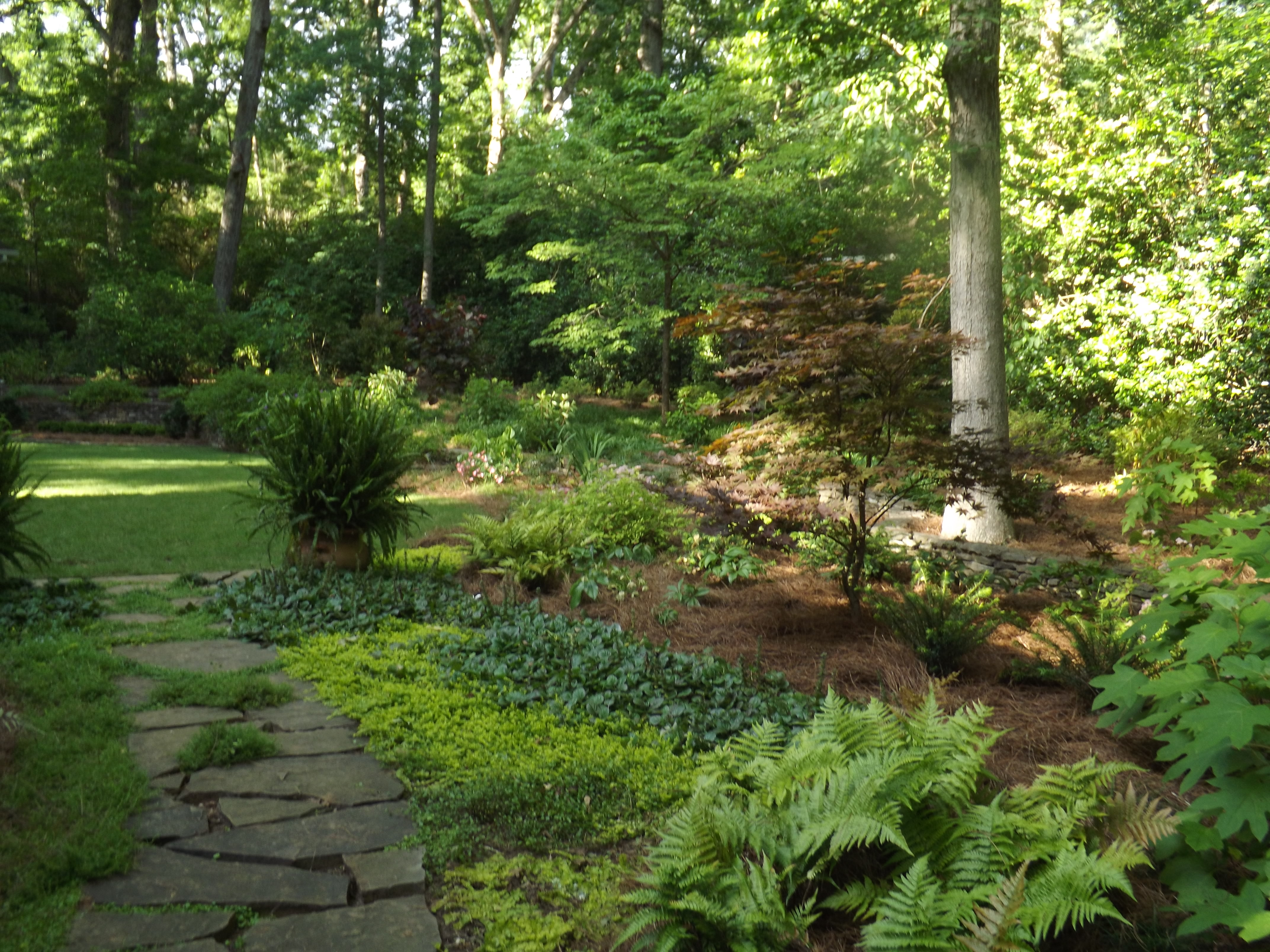 Southern-style garden restored