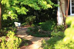 restored Five Points garden -pathway