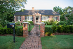 southern garden with brick entryway