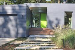 modern home front walkway