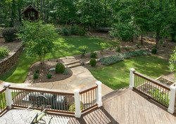 ipe patio overlooks family garden